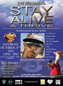 3rd Annual Stay Alive & Thrive flyer
