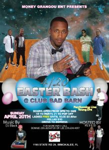 4/20 Easter Bash flyer