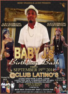 Baby J Birthday Bash 2014 flyer