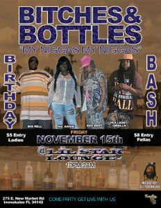 B-tches & Bottles flyer