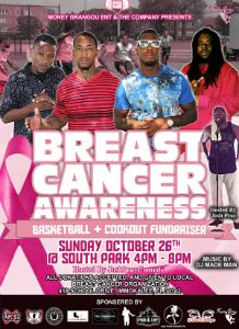 Breast Cancer Awareness Basketball & Cookout flyer