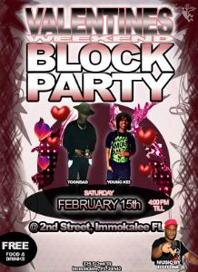 Chubby Birthday Block Party flyer