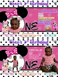 "Cocos 1st Birthday Party invitation ""BothVersions"""