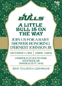 D'Ernest Terell Javar Johnson Jr BabyShower invitation