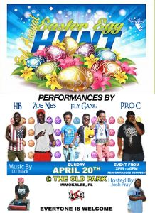 Easter Egg Hunt Performing flyer