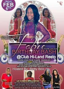 Fabie Birthday Bash 2015 flyer