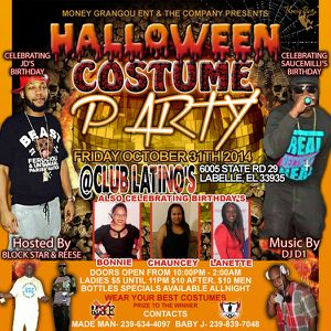 Halloween Bash 2014 Birthday Bash flyer