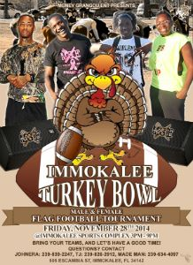 Immokalee Turkey Bowl 2014 flyer