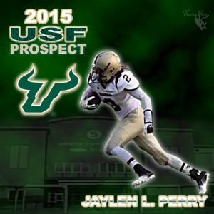 Jaylen L Perry football prospect graphic