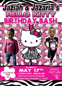 Jaziah & Jazaria Birthday Bash flyer
