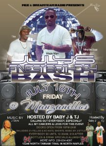 July Finest Birthday Bash flyer
