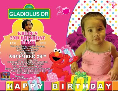 Kholes 2nd Birthday Party flyer