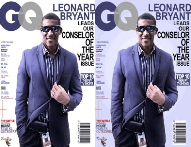 Leonard Bryant GQ Magazine double display