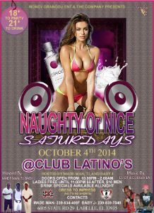 Naughty Or Nice Saturday Oct 4th 2014