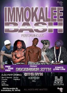 Quarter Zoe Immokalee Bash flyer