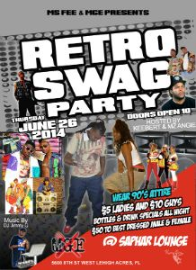 Retro Swag Party flyer