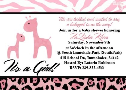 TaLisha BabyShower Invitation