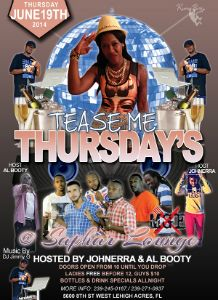Tease Me Thursdays Flyer 6.19.2014