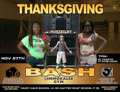 Thanksgivings Teen Bash flyer