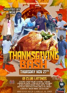 Thanksgivingsday Bash 2014 flyer