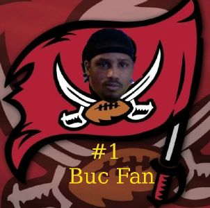 my head on Buc flag edit