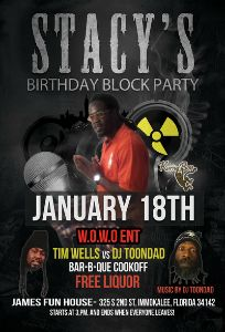 Stacey B-Day flyer